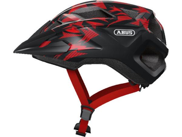 Abus MountZ - Cykelhjelm - Rød/sort - Str. M