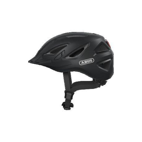 Fra Abus Urban-I 3.0 velvet black cykelhjelm m. LED-baglygte