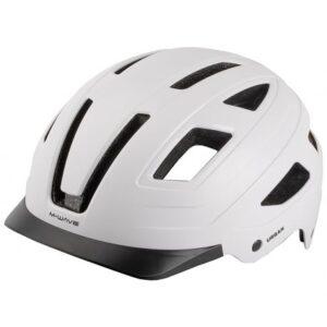 M-WAVE URBAN - cykelhjelm mat hvid. (BEDST I TEST ! )